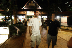 Mark Webber and Sebastian Vettel at the Newton Food Circus