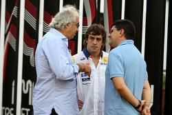 Flavio Briatore, Renault F1 Team, Team Chief, Managing Director, Fernando Alonso, Renault F1 Team, Luis Garcia Abad, Manager of Fernando Alonso