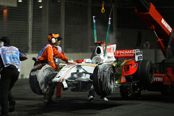 Adrian Sutil, Force India F1 Team, crashes