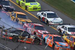 Martin Truex Jr. crashes
