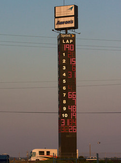 The final result on the scoring pylon
