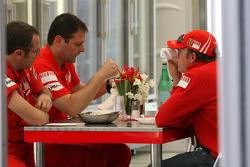 Stefano Domenicali, Scuderia Ferrari Sporting Director and Kimi Raikkonen, Scuderia Ferrari