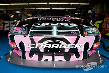 Elliott Sadler's Dodge sits in the garage