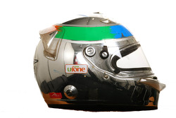 Adam Khan, driver of A1 Team Pakistan helmet