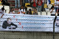 Banners of support for Kimi Raikkonen, Scuderia Ferrari