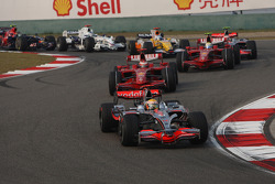 Lewis Hamilton, McLaren Mercedes, MP4-23 leads the start of the race