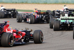 Sébastien Bourdais, Giancarlo Fisichella, Jenson Button, David Coulthard, Nico Rosberg and Kazuki Nakajima
