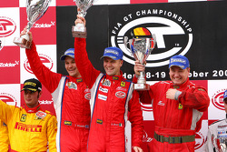 GT2 podium: Toni Vilander and Gianmaria Bruni