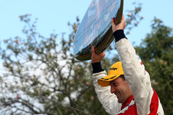 Podium: Jamie Whincup takes the victory
