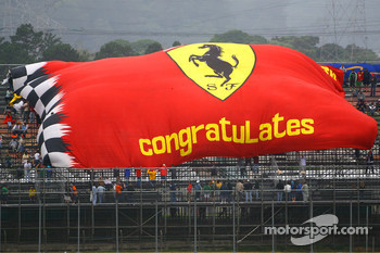 Scuderia Ferrari, fans flag