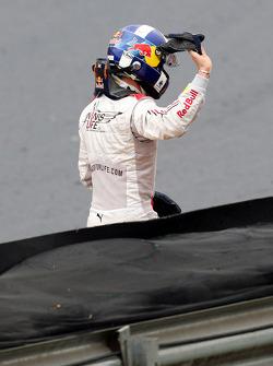 David Coulthard, Red Bull Racing crashed out at his final GP