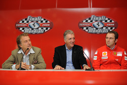 Press conference: Luca di Montezemolo, Piero Ferrari and Stefano Domenicali