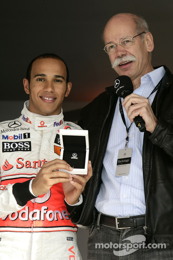 World Champion Lewis Hamilton and Dr. Dieter Zetsche, CEO Daimler AG