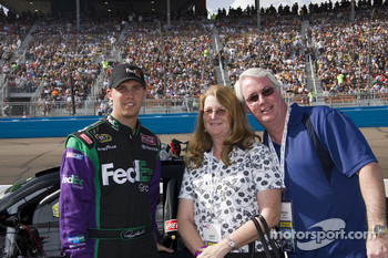 Denny Hamlin poses with guests