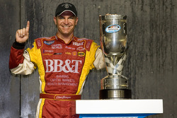 Championship victory lane: 2008 NASCAR Nationwide Series champion Clint Bowyer