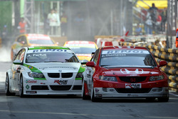 James Thompson, N. Technology, Honda Accord Euro R and Augusto Farfus, BMW Team Germany, BMW 320si