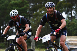 Launceston, Australia: Mark Webber and Daniel MacPherson of Team Pure Tasmania in action