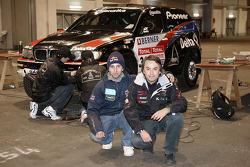 Ricardo Leal dos Santos, Pioneer Solo Desert Team BMW, and Helder Rodrigues