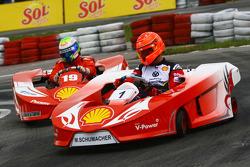 Michael Schumacher, Test Driver, Scuderia Ferrari and Felipe Massa, Scuderia Ferrari