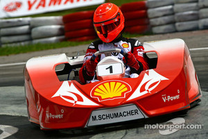Michael Schumacher in a kart race.