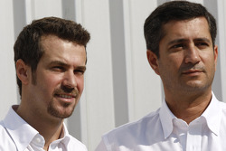 Ocean Racing Technology team photoshoot: Tiago Monteiro, team manager, and Jose Guedes, team manager