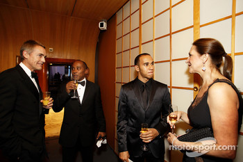 McLaren CEO Martin Whitmarsh, Anthony Hamilton and FIA Formula One World champion Lewis Hamilton