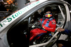 Sébastien Loeb at the wheel of a Ford Focus WRC 08