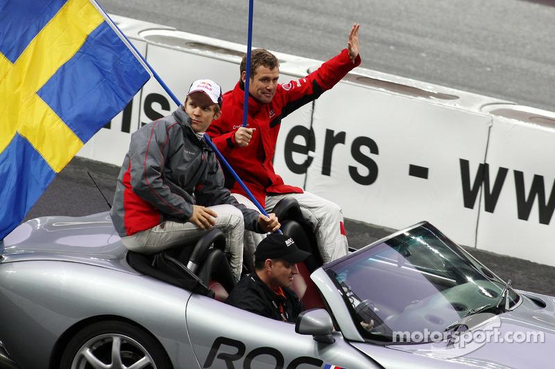 Drivers presentation: Mattias Ekström and Tom Kristensen, Team Scandinavia