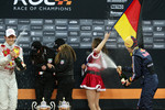 Podium: Sebastian Vettel and Mattias Ekstrm spray champagne