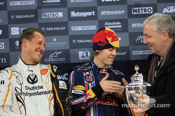 Podium: Nations Cup winners Michael Schumacher and Sebastian Vettel (Team Germany)