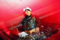 Sakon Yamamoto Renault Test Driver DJing at the Fly Kingfisher Boat Party