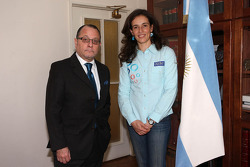 Olzoban Man Portugal Man driver Elisabete Jacinto visits the Argentina embassy in Lisbon