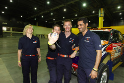 Tina Thorner, Matthieu Baumel, Guerlain Chicherit and Nasser Saleh Al Attiyah