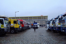 Trucks at scrutineering