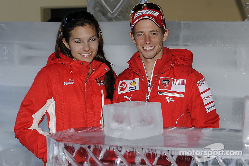 Casey Stoner and wife Adriana