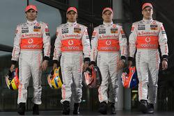 Pedro de la Rosa, Lewis Hamilton, Heikki Kovalainen and Gary Paffett