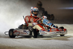 Kart race on ice: Nicky Hayden
