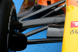 Front suspension detail of the new Renault R29