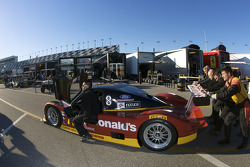 #77 Doran Racing Ford Dallara back from technical inspection