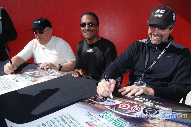 Leo Hindery Jr., Bill Lester and Kyle Petty