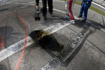 Oil left after the pit stop of #58 Brumos Racing Porsche Riley