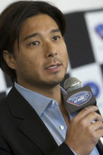 American Le Mans Series Mikimoto sponsorhip announcement press conference: Mikimoto Vice President Yugo Tsukikawa