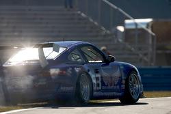 #63 TRG Porsche GT3: Kurt Kossmann, Bruce Ledoux, David Quinlan, Dan Watkins, Steve Zadig goes off-track