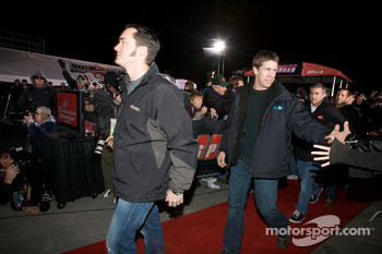 Drivers enter the stage: Paul Menard, Yates Racing Ford, Carl Edwards, Roush Fenway Racing Ford