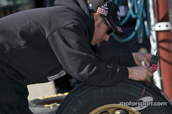 Hendrick Motorsports Chevrolet team member at work