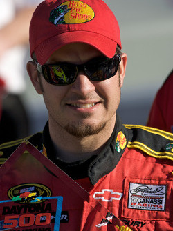 Pole victory lane: pole winner Martin Truex Jr.