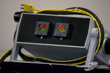 Electronic equipment on the Red Bull Racing Team Toyota