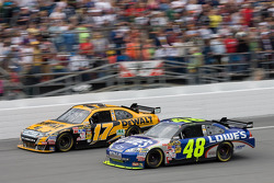 Jimmie Johnson, Hendrick Motorsports Chevrolet, Matt Kenseth, Roush Fenway Racing Ford
