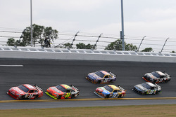 USAC graduates Tony Stewart, Stewart-Haas Racing Chevrolet, and Jeff Gordon, Hendrick Motorsports Chevrolet, lead the Daytona 500