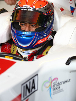 Zahir Ali, driver of A1 Team Indonesia